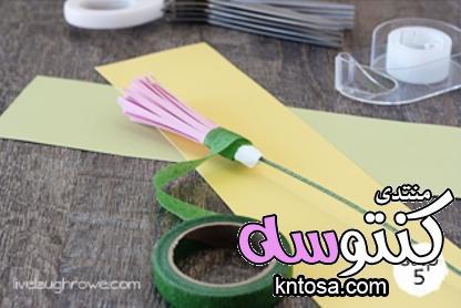 طريقة عمل وردة من الورق بالصور2019,طريقة عمل بوكيه ورد بالورق،كيفية صنع باقة ورد من الورق kntosa.com_17_18_154