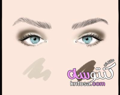 كيفية اختيار الوان,طريقة دمج الشدو بالصور,دمج ظلال العيون بالصور,الالوان الانتقاليه في المكياج, kntosa.com_17_19_155