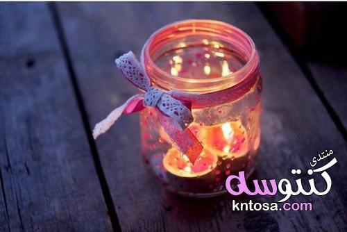 تزيين البرطمانات الفارغة,اشكال برطمانات هدايا,اعادة تدوير البرطمانات الزجاج,كيفية تزيين البرطمانات kntosa.com_17_19_155