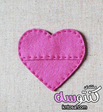 طريقة عمل قلوب بقماش الجوخ،اعمال فنية من قماش الجوخ2019،افكار رومانسية بقماش الجوخ انستقرام kntosa.com_18_18_154