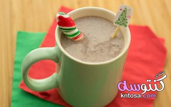 بالصور طريقة تحضير هوت شوكليت بالنعناع,مشروبات الكريسماس هوت شوكليت الساخنة kntosa.com_18_18_154