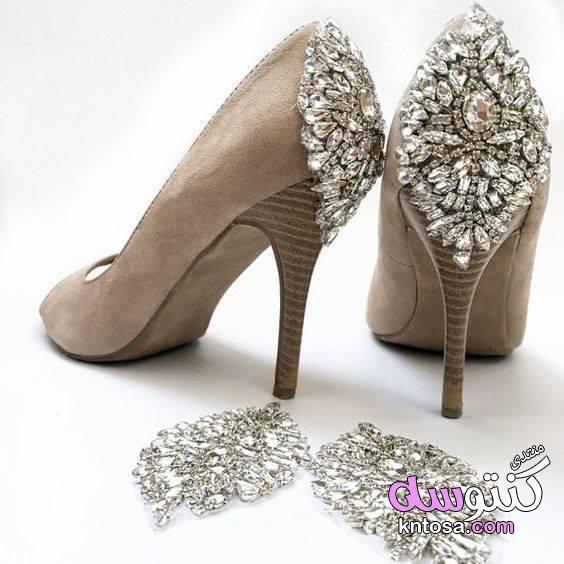 بالصور تجديد الحذاء القديم بالقماش,تزيين الحذاء بالدانتيل للعروسة,طريقه مختلفه لعمل حذاء العروسه2019 kntosa.com_18_19_155