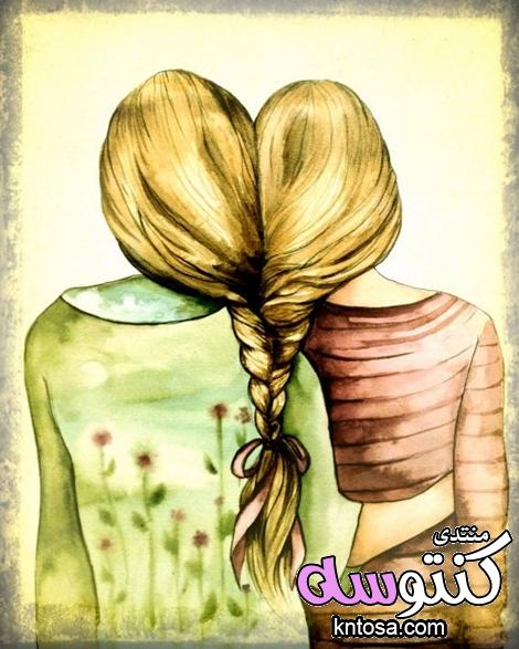 صور مرسومة للصداقة جميلة جدا,صور بنات صداقة مرسومة,صور اصدقاء للابد,صور بنات صديقات2019 kntosa.com_19_18_153