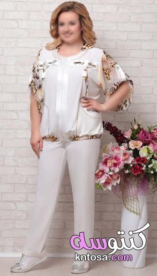 موديلات فساتين مقاسات كبيرة 2020، فساتين مقاسات كبيرة جدا،ملابس خارجية مقاس كبير للمحجبات