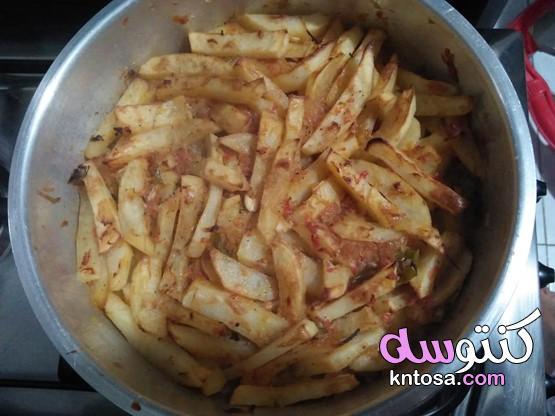 طريقة عمل بطاطس بالثوم والصلصة،بطاطس بالثوم والطماطم،طريقة عمل البطاطس المهروسة بالثوم والخل