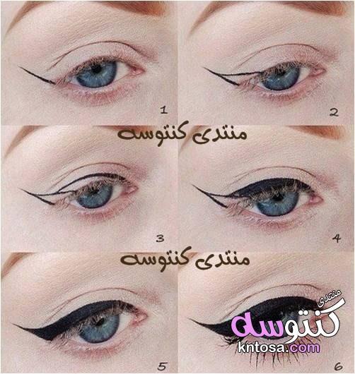 طريقة وضع الايشادو على العين بالصور,طريقة وضع الايشادو للمبتدئين,طريقة وضع مكياج العيون بالصور2019 kntosa.com_21_19_154