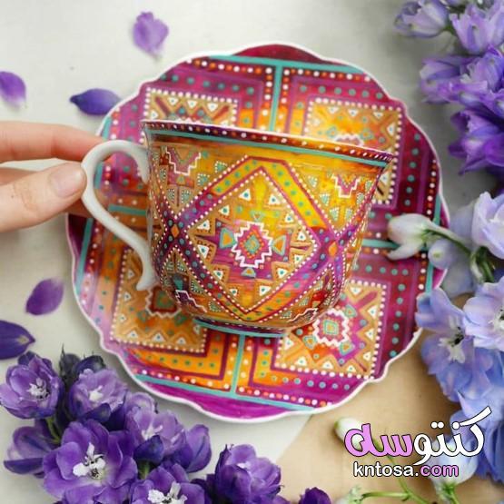الكؤوس 2021،فناجين قهوة مصرى ملونة،طقم فناجين قهوة،فناجين قهوة ملونة