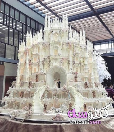 7 اتجاهات مختلفة لكعكة الزفاف ،موديلات كعكة الزفاف 2022 kntosa.com_21_21_162