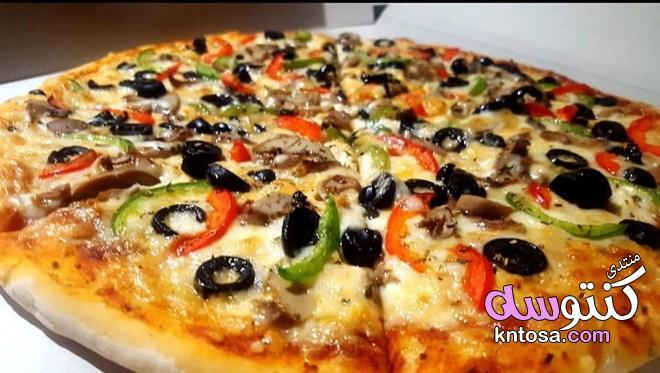 طريقة عمل البيتزا السريعة,مكونات البيتزا في البيت,تحضير البيتزا هت روعه,عجينه البيتزا بالخطوات kntosa.com_22_18_154