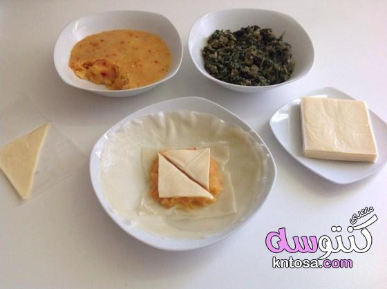 بوريك بالجبنة بالفرن,عجينة البوريك التركي,عجينة البريك,البوريك ( الملسوقة ) بالبطاطا والسبانخ والجبن kntosa.com_22_19_155