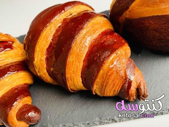 كرواسون bicolore,كرواسان بلونين croissant bicolore,كرواصون وبتي سهل وسريع kntosa.com_22_19_156
