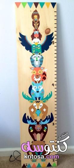 كيفية قياس طول الطفل,قياس طول طفلك بالبيت,لمعرفة طول ابنك يوم بعد يوم,عمل مقياس لطفلك فى المنزل kntosa.com_23_19_155
