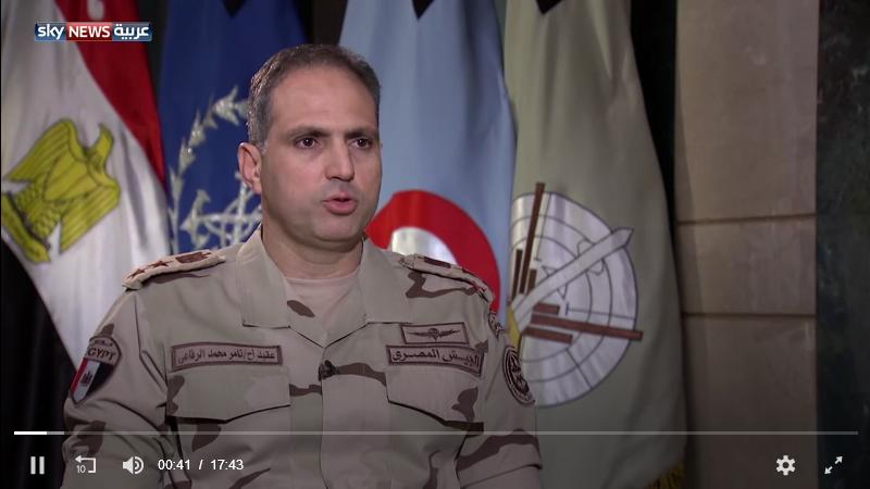 المتحدث العسكري المصري: دمرنا بنية الإرهاب في سيناء kntosa.com_25_18_154