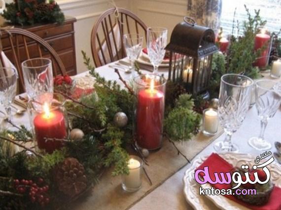 كيفية تزيين المائدة للعام الجديد,ديكورات موائد الطعام لسهرة رأس السنة kntosa.com_25_19_155