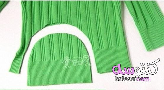 طريقة خياطة قبعة اطفال,حذاء دفاية من بواقي القماش,قبعة و حذاء قماش للاطفال الرضع,خياطة قبعة طفل kntosa.com_25_19_156
