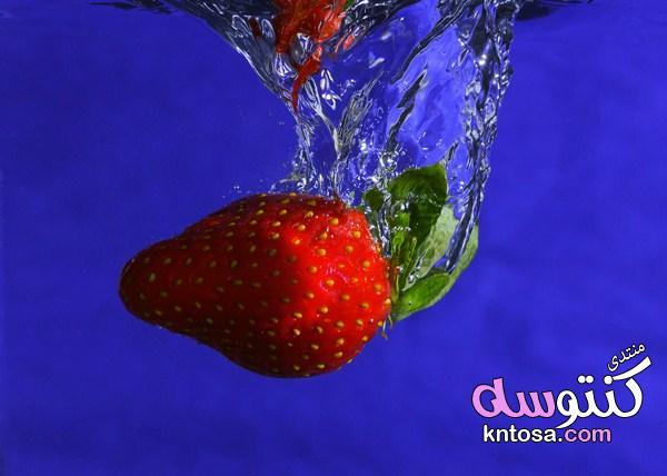 خلفيات حية - الفراولة,الفراولة في الماء,خلفيات فراوله,انواع الفراولة بالصور,خلفيات الفراولة kntosa.com_26_19_155