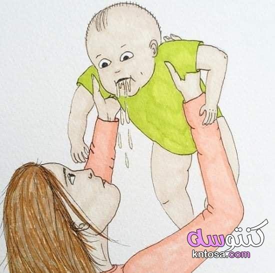 حال الأم بعد الإنجاب ، بالصور هكذا يصبح حال الأم بعد الإنجاب kntosa.com_27_19_157