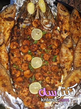السمك المشوي بالزيت والليمون بالطريقة المصرية،سمك دنيس،طريقة عمل السمك بالزيت والليمون kntosa.com_27_19_157
