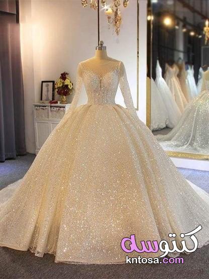 فساتين افراح رقيقة 2021،فساتين زفاف فخمة،فساتين اعراس ملكية kntosa.com_28_20_160