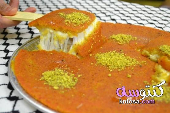 طريقة الكنافة النابلسية الناعمة بالجبن العكاوي في البيت خطوة بخطوة