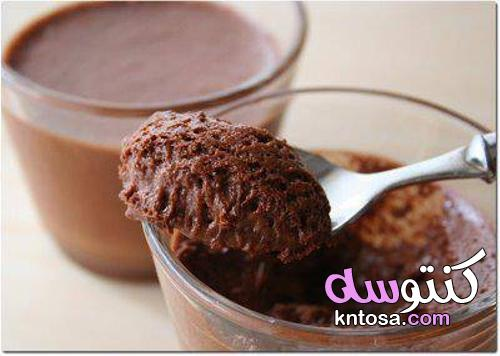 كريمة بالشكولاطة ،طريقة عمل كريمة الشوكولاتة لحشو الكيك kntosa.com_30_21_162