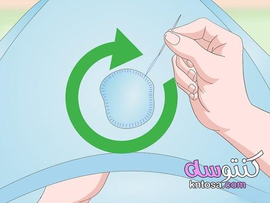 كيفية إصلاح ثقوب القمصان حياكة الثقب يدويًا ترقيع الثقب تجربة حلول إبداعية 2020 kntosa.com_31_19_157